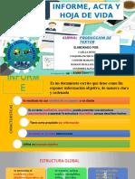 Informe, Acta, Cv