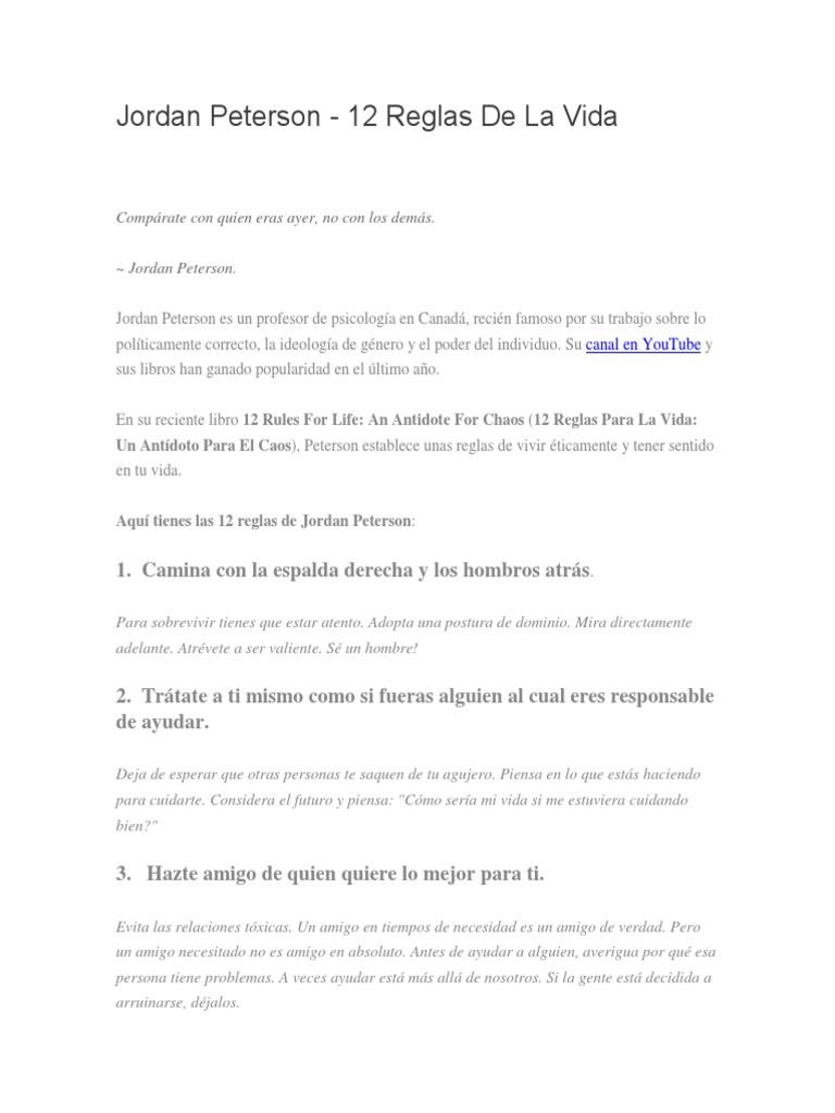 granja Hong Kong trabajo duro  Artículo Sobre Jordan Peterson y Las 12 Reglas de La Vida