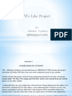WE LIKE pROJECT.pptx