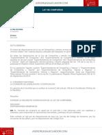 Ley de Companias Ecuador Vigente 2018 AsesorLegalEcuador