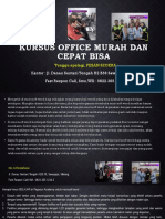 Kursus Ms Office, Fast Respon Call/ WA