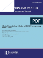Effect of Oncoxin Oral Solution in HER2-Overexpressing Breast Cancer