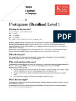 Portuguese Language (PT-Br) Level 1