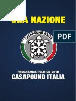 CasaPound - Programma 2018