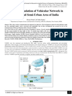 Realistic Simulation of Vehicular Network in Urban and Semi-Urban Area of India