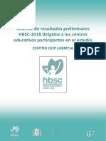 Informe Resultats Preliminars Estudi HBSC-2018