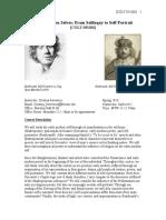 Early Modern Selves - Syllabus - Copy