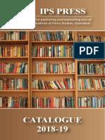 IPS PRESS Catalogue 2018-19