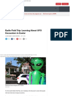 Radio Field Trip Learning About UFO Encounters in Exeter New Hampshire Public