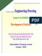 Lecture14 Development of Surfaces - Pkghosh
