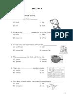 English Year 3 Paper 1