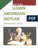 Prof. Dr. Fuat Sezgin- Bir Alimin Ardından Notlar