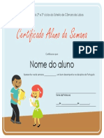 Certificado Aluno Da Semana