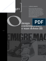 Design contemporâneo e suas dobras