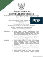 Peraturan Menteri Agama Republik Indonesia Nomor 9 Tahun 2013 Tentang Organisasi Dan Tata Kerja Universitas Islam Negeri Sultan Syarif Kasim Riau
