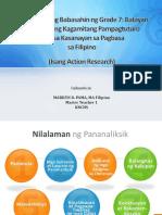 Preperensyang Babasahin ng Grade 7 Batayan sa Pagbuo ng Kagamitang Pampagtuturo Para sa Kasanayan sa Pagbasa sa Filipino.pptx