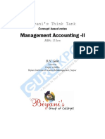 Management Accounting II