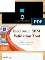 Electronic Sbm Validation Tool