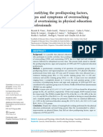 Identifying the Predisposing Factors, Signs and Symptoms of Overreaching and Overtraining in Physical Education Professionals