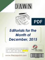 DAWN Editorials - December 2015