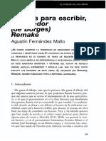 Motivos Para Escribir El Hacedorde Borges Remake