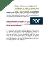 Modology Chapter on Major Modes