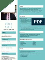 DejanKesic Teacher CV