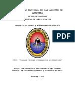 La Corrupción e Implicancias en Las Finanzas Públicas, En Crecimiento Económico y Desarrollo Del Pais