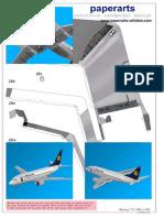 Papercraft Boeing 737-500