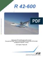 ATR42-600 Papercraft Manual
