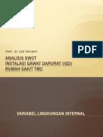 Analisis SWOT Di Instalasi Gawat Darurat (IGD