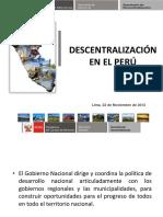 1.Lapoliticadescentralizacion Peru Pcm