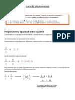 Guía Matemáticas Proporciones