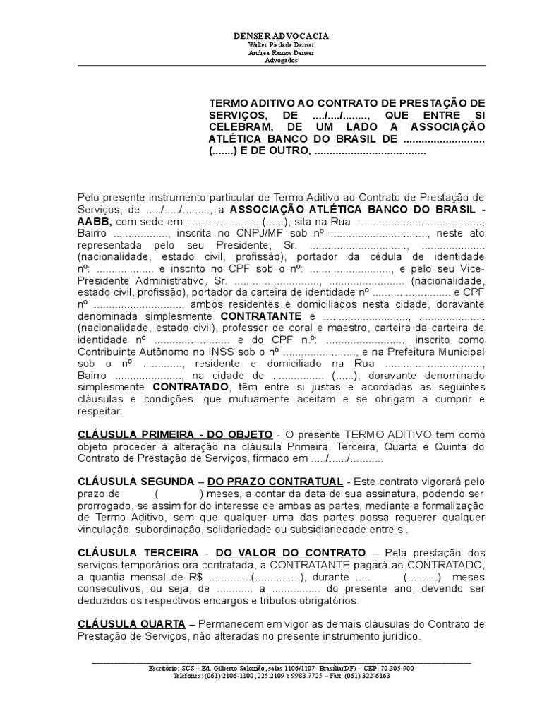 Termo aditivo Contrato de Prestação de Serviços 12c091f6cf