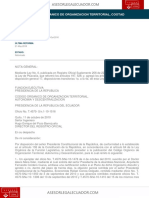 Codigo Organico de Organizacion Territorial Cootad
