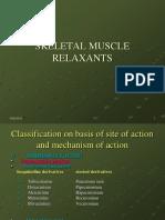 10. Skeletal Muscle Relaxants