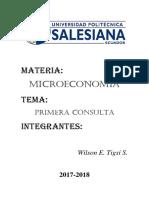 Microeconomia Primera Consulta
