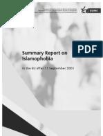 Summary Report on Islamophobia