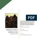 Informe Sobrelombricultura o Vermicultura