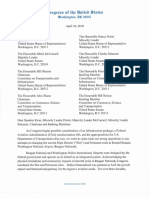 Letter to Senate and House Leaders on 2018 FAA reauthorization