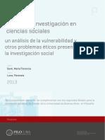 Etica de La Investigación en Ciencias Sociales