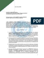 Carta de 'Marcos Calarcá' a la JEP