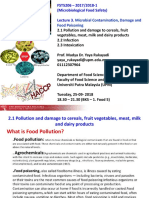 Lecture 3. Microbial Contamination, Damage and Food Poisoning -1