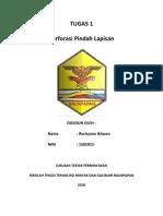 Tugas 1 Perforasi Pindah Lapisan - (Rochyana Ikhwan_1501013)