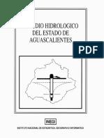 Estudio hidrológico el Edo Ags 1993-INEGI