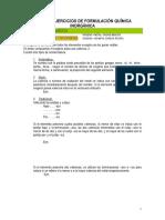 Ejercicios de Formulación Química Inorgánica