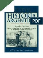 Cattaruza Alejandro - Nueva Historia Argentina 07 - Crisis Economica Avance Del Estado E Incertidumbre Politica (1930-1943)