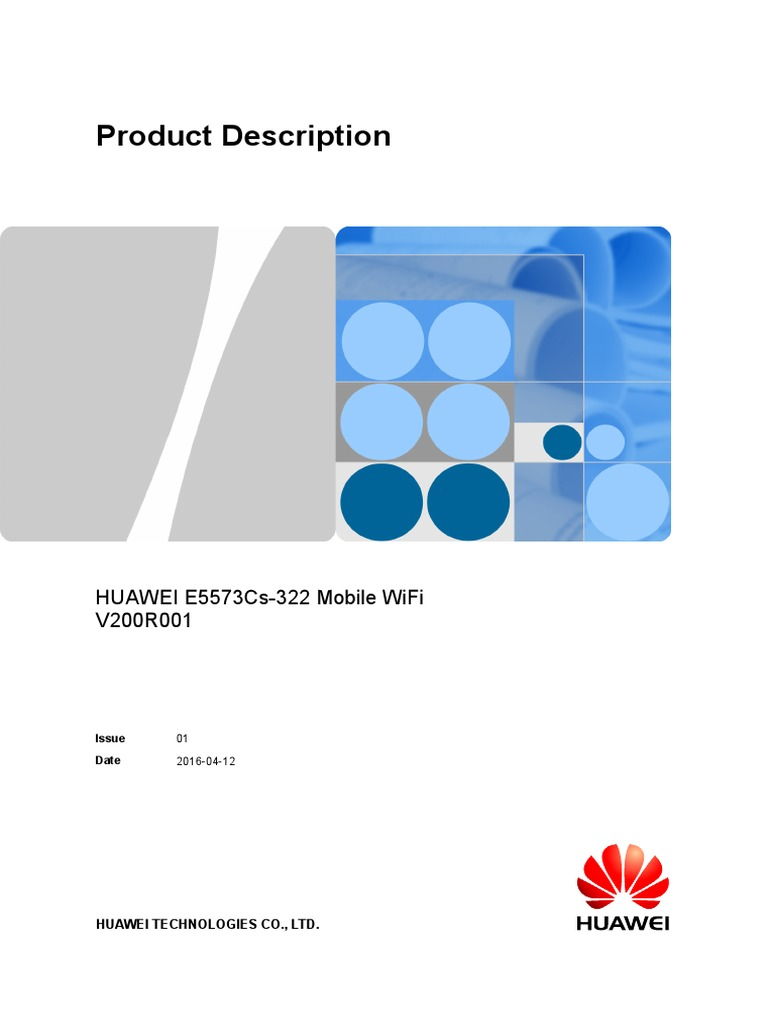 HUAWEI E5573Cs-322 Mobile WiFi Product Description-%28V200R001_01