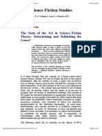 Darko Suvin -- The State of the Art in Science Fiction Theory