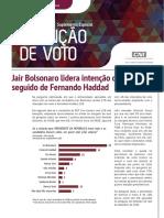 Pesquisa CNI – Ibope/Set-2018–- intenção de voto